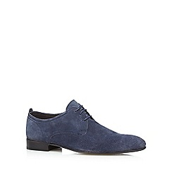 Base London - Navy suede 'Business' Derby shoes