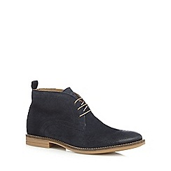 Base London - Navy 'Dore' chukka boots