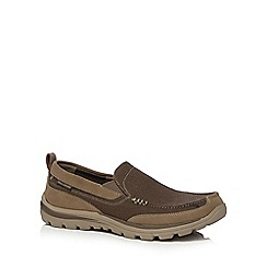 Skechers - Light brown 'Superior Milford' slip on shoes