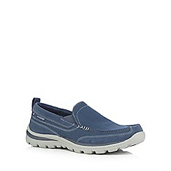 Skechers - Navy 'Superior Milford' slip on shoes