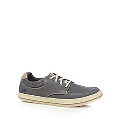 Skechers - Navy textured lace up shoes