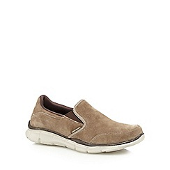 Skechers - Taupe 'Equalizer ³ Mind Game' slip-on shoes