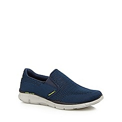 Skechers - Navy 'Equalizer û Double Play' slip-on shoes