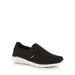 Skechers - Black 'Equalizer' slip-on shoes