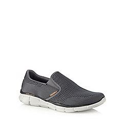 Skechers - Dark grey 'Equalizer' slip-on trainers