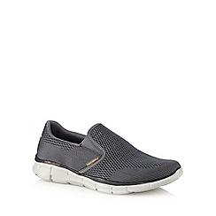 Skechers - Dark grey 'Equalizer' slip-on trainers