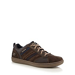 Skechers - Dark brown 'Sornio Evole' trainers