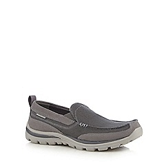Skechers - Dark grey 'Superior Milford' slip-on shoes