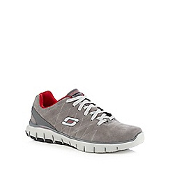 Skechers - Grey 'Sketch Flex Natural' lace up shoes