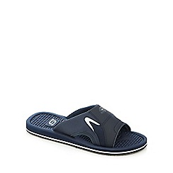 Skechers - Navy 'Magoo' textured slip-on sandals