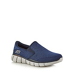 Skechers - Navy 'Equalizer 2.0' slip-on trainers