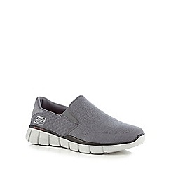 Skechers - Grey 'Equalizer 2.0' slip on trainers