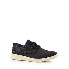 Skechers - Black 'Status Borges' lace up shoes