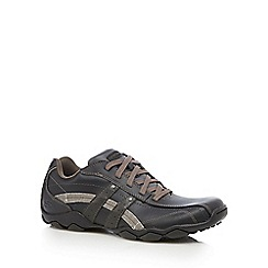 Skechers - Big and tall black 'diameter blake' trainers