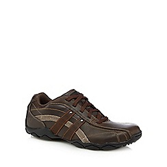 Skechers - Brown 'Diameter Blake' leather trainers