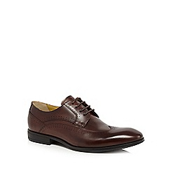 Steptronic - Big and tallbrown leather 'fusion' wide fit derby shoes