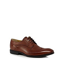 Steptronic - Tan leather 'Fusion' wide fit Derby shoes