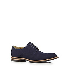 Steptronic - Navy 'Vectra' suede lace up shoes