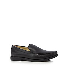 Steptronic - Black moccasin slip-on shoes