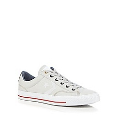 Converse - Beige 'Star Player' lace up shoes