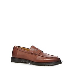 Dr Martens - Tan 'Penton' leather slip-on loafers