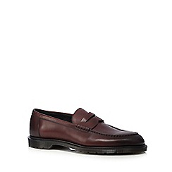 Dr Martens - Dark red 'Penton' leather slip-on loafers