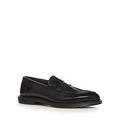 Dr Martens - Black 'Penton' leather slip-on loafers