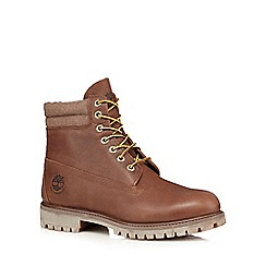 Timberland - Brown 'Double Collar' boots
