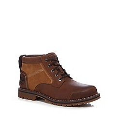 Timberland - Big and tall brown 'larchmont' chukka boots