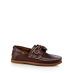 Timberland - Big and tall dark red 'heritage 2-eye' boat shoes