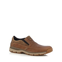 Timberland - Big and tall light brown 'fuller st' slip-on shoes