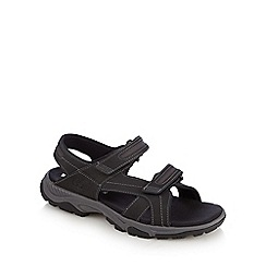 Timberland - Black leather 'Carbondale' sports sandals