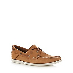 Timberland - Big and tall light brown 'heritage 2-eye' boat shoes