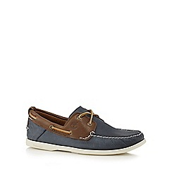 Timberland - Timberland dark brown and navy heritage 2-Eye boat shoes
