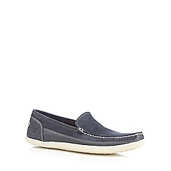 Timberland - Navy 'Odelay' slip-on shoes
