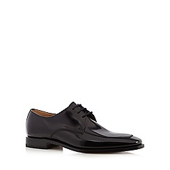 Loake - Big and tall black leather oxford shoes