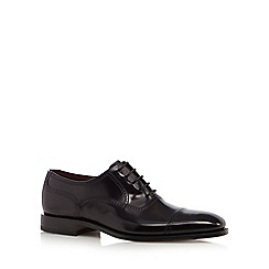 Loake - Big and tall black leather brogues