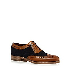 Loake - Navy and tan suede brogues