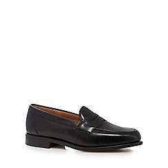 Loake - Black leather loafer shoes