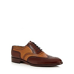 Loake - Brown and tan patent leather brogues