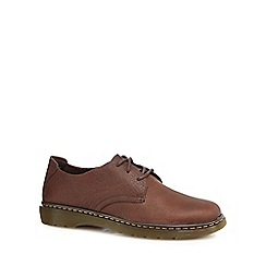 Dr Martens - Brown leather 'Bexley' Derby shoes