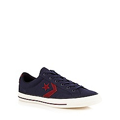 Converse - Navy star applique trainers