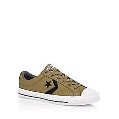 Converse - Khaki 'Star Player' lace up shoes