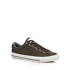 Converse - Dark brown 'Star Player' lace up shoes