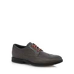 Rockport - Grey leather 'Dressport' brogues