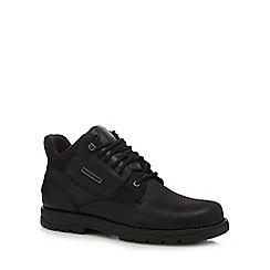 Rockport - Black 'Treeport' leather hiking boots