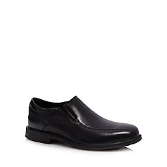 Rockport - Black leather 'Essential' slip on shoes