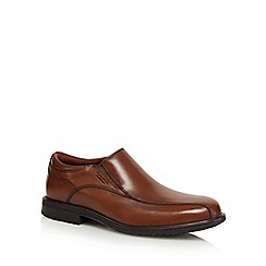 Rockport - Tan leather slip on shoes