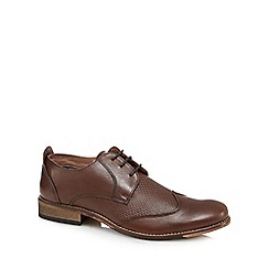 Lotus Since 1759 - Brown 'Kade' leather Derby shoes
