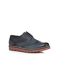 Lotus Since 1759 - Navy 'Bradshaw' leather brogues